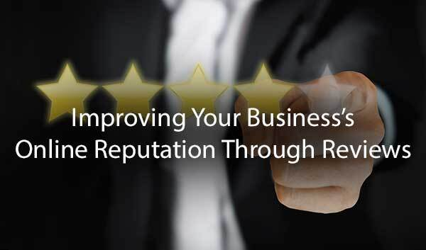 "A man giving a thumbs up with the words, ""improving your business"